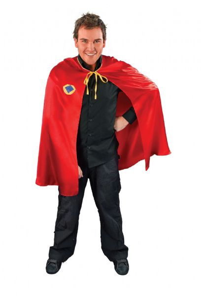 Adults Superhero Cape Red Costume Super Hero Fancy Dress Outfit Cosplay